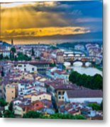 Firenze Sunset Metal Print by Inge Johnsson