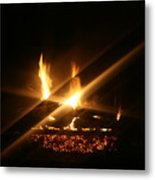 Fireplace Metal Print