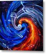 Firestorm Dancing With The Wind  Metal Print