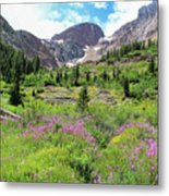 Fireweed Frenzy Metal Print