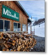 Firewood Ready To Burn In Fire Place Metal Print