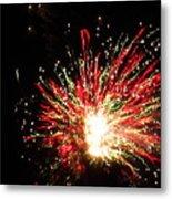 Firework Christmas Sparkle Metal Print