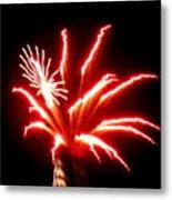 Firework Hibiscus Metal Print