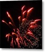 Firework Lights Of The City Metal Print