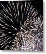 Firework Within Fireworks Metal Print