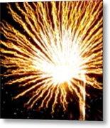 Firework Yellow Burst Metal Print