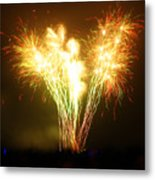 Fireworks 2 Metal Print by Oliver Johnston