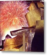 Fireworks At Guggenheim Metal Print