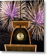 Fireworks At Ten Metal Print
