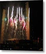 Fireworks At Toronto City Hall Metal Print
