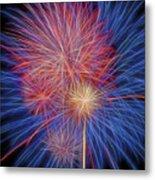 Fireworks Celebration Glow Square Metal Print