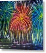 Fireworks Explode Metal Print