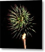 Fireworks From A Boat - 8 Metal Print by Jeffrey Peterson