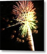 Fireworks From A Boat - 9 Metal Print