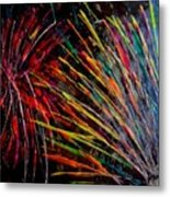 Fireworks In Bled Metal Print