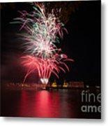Fireworks In Greenwich  Metal Print