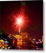 Fireworks In Phoenix Metal Print