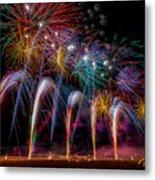 Fireworks Line Metal Print