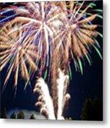 Fireworks No.4 Metal Print by Niels Nielsen