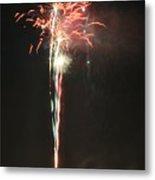 Fireworks On The Lake Metal Print
