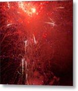 Fireworks Over Humboldt Bay Metal Print