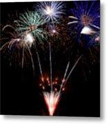 Fireworks Over Lake #14 Metal Print