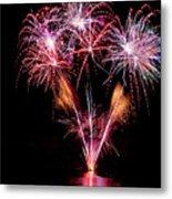 Fireworks Over Lake #15 Metal Print