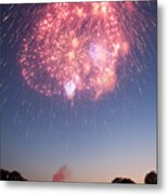 Fireworks Over Lincoln Metal Print