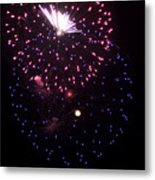 Fireworks Over Puget Sound 10 Metal Print