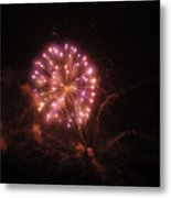 Fireworks Over Puget Sound 2 Metal Print