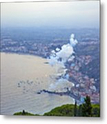 Fireworks Over Sicily Metal Print
