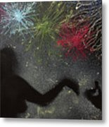 Fireworks Proposal Metal Print