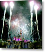 Fireworks To End The Day Metal Print