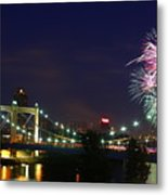 Fireworks Metal Print by Tracy Reese