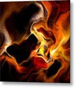 Firey Metal Print