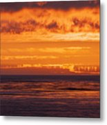 Firey Sunset Sky Metal Print