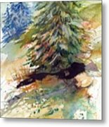 Firs On The Hill Metal Print