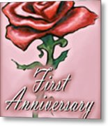 First Anniversary Metal Print