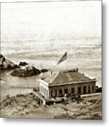 First Cliff House  View Of Ropes From The Cliff House To Seal Rock Circa 1865 Metal Print