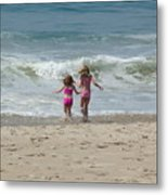 First Day At Beach Metal Print