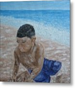 First Day At The Beach Metal Print