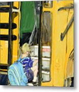 First Day Bus Ride Metal Print