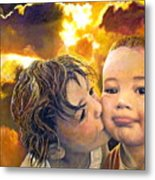 First Kiss Metal Print