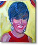 First Lady In Red Metal Print