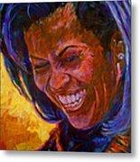 First Lady Michele Obama Metal Print by David Lloyd Glover