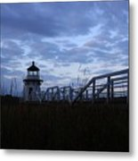 Daybreak At Doubling Point Light  Metal Print