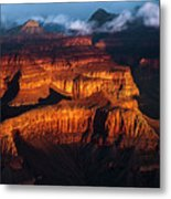 First Light - Grand Canyon Metal Print