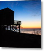 First Light On Beach Road, Falmouth Metal Print