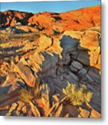 First Light On Valley Of Fire State Park Metal Print