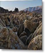 First Light Over Alabama Hills California Metal Print